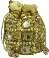 X-WELL Beaded Clutch Potli(Gold) best price on Flipkart @ Rs. 249