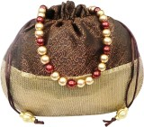 Bhamini Sequin Bottom Potli (Brown)