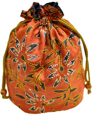 The India Craft House Kutch Emboidered Potli(Multicolor)