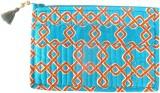 Needlecrest Cotton Quilted Pouch (Blue, ...