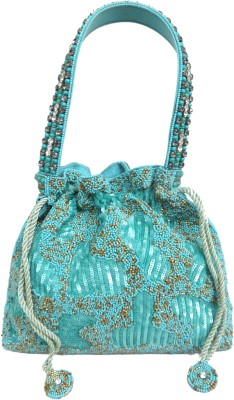 Kawaii SKY BLUE MIXED BEADS BAG Potli