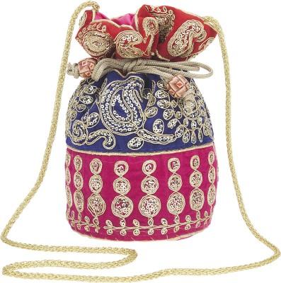 Fashiondrobe Astonishing Silk Broad Brocade Potli