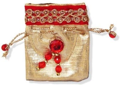WeddingPitara Golden Red Coin Gifting Pouch