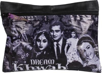 Garam Masala Flat Pouch Cosmetic Bag(Black)