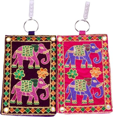 Craft Trade Craft Trade Elephant Design Mobile Pouch (A) Mobile Pouch