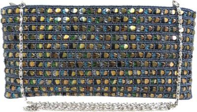 Kawaii Blue China Beads Zipper Pouch