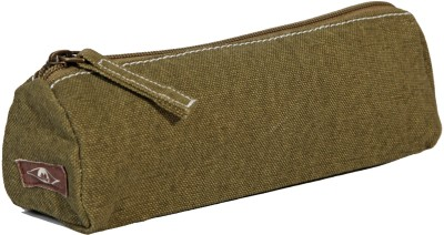 Kohl Pencil Pouch Olive Green Wristlet(Green)