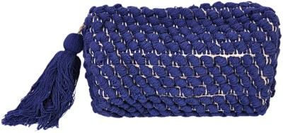 Diwaah Diwaah!! Blue pom pom Beautifully pouch. Pouch