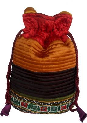 Sheela's Arts&Crafts Potli pouches Potli(Orange)