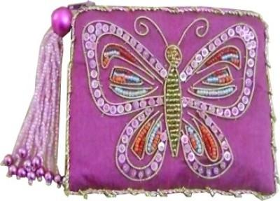 Himalaya Handicraft Handmade Embroidered Designer Butterfly Coin Purse