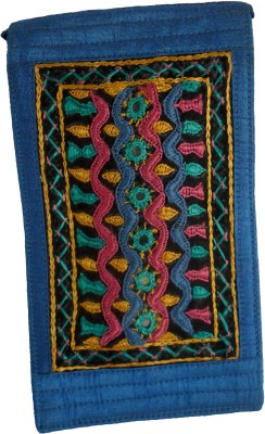Sheela's Arts&Crafts pouches Mobile Pouch(Blue)
