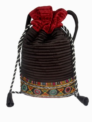 Sheela's Arts&Crafts Potli pouches Potli(Black)