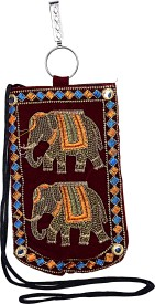 Decot Paradise Embroidered Coin Passcase Bags Pouch(Maroon)