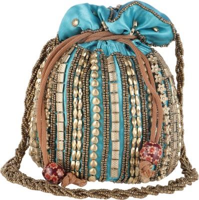 Fashiondrobe Ethnic Embroidry Silk Potli