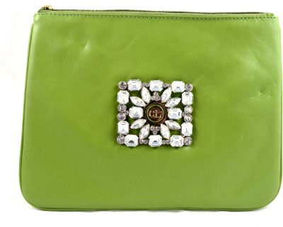 Claude Lorrain Leather with Diamond Brooch Pouch