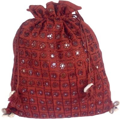 Sheela's Arts&Crafts Potli pouches Potli(Maroon)