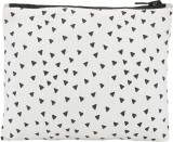 Ruse Textured Pouch (White, Black)