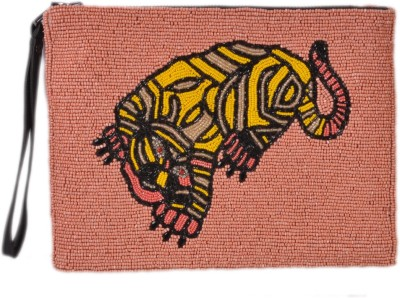 Diwaah Diwaah!! Multi Beaded attractive ziptop pouch Pouch