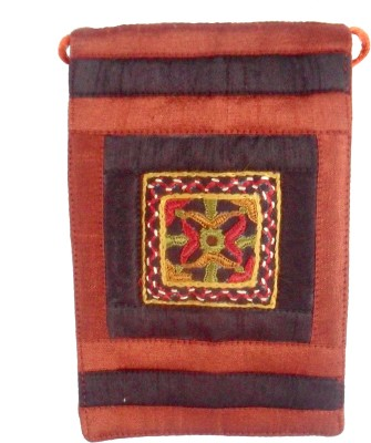 Sheela's Arts&Crafts pouches Mobile Pouch(Maroon)