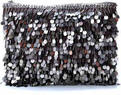 Diwaah Embellished silver attractive fringes Pouch