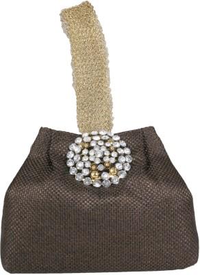 PRETTY KRAFTS Brown Color Hand Bag Cum Pouch