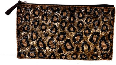 Diwaah Diwaah!! Beige black cut work beautiful embroidery hand pouch. Pouch