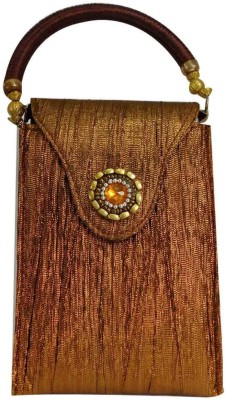Laviva Glittering Brown Mobile Pouch Bag for Women from Laviva Pouch