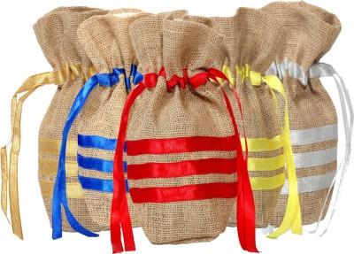Kohl Set of 5 Potli Bags Large Multicolour Wristlet