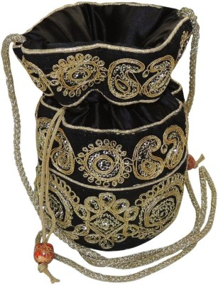 Bagathon India Elegant Heavy Golden Work Traditional Potli Potli