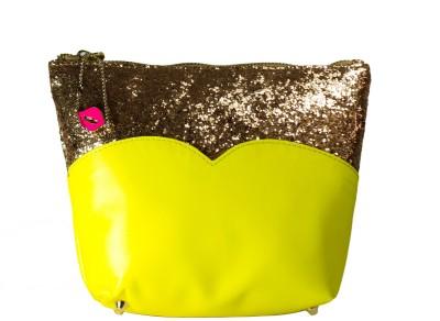 Zahra Jani Zahra Jani Yellow Glitter Pouch Pouch