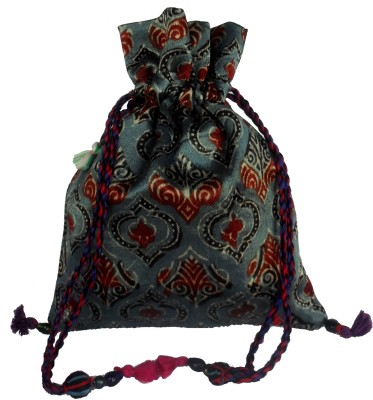 Sheela's Arts&Crafts Potli pouches Potli(Blue)
