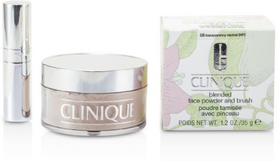 Clinique Blended Face Powder + Brush(Brown)
