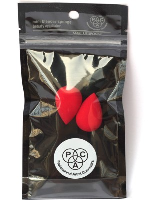 PAC Min beauty blender sponge ( 2 Pcs) Red