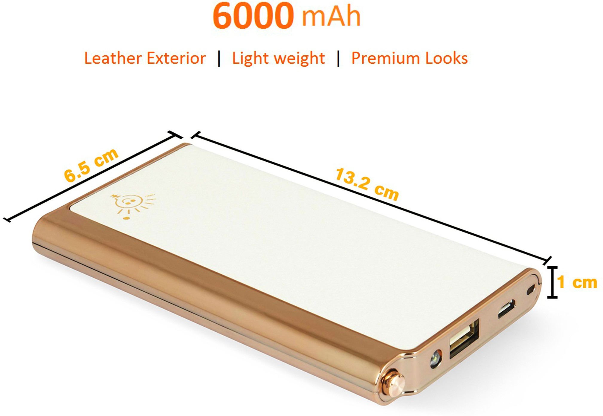 Parallel Universe 001-GL-06K-WH1 Executive 6000 mAh Power Bank(White)