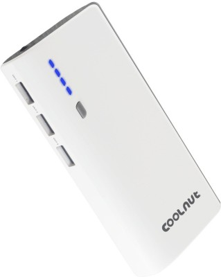 Coolnut Tri USB Port Portable Power bank 12500 mAh Power Bank(White, Lithium-ion) at flipkart