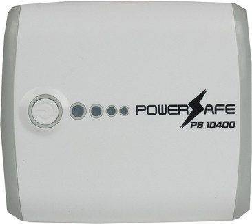 Powersafe PB-10400 USB Portable Power Supply 10400 mAh Power Bank(White, Lithium-ion)