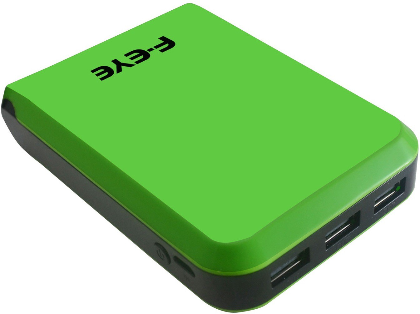 F-EYE High Capacity Power Bank with 3 USB Output Port for iOS and Android Devices 10400 mAh Power Bank(Green, Lithium-ion)