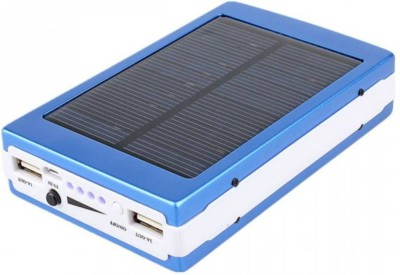 Bluebells India 13000 mAh Solar Charging 13000 mAh with 20 LED Lights Universal Compatibility for Mobile/Smart Phones, Cameras, Tablets & other similar devices 13000 mAh Power Bank(Blue)