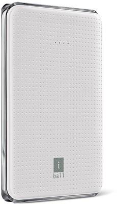 iBall PB-5049 Portable Dual USB Slim 5000 mAh Power Bank(White, Lithium Polymer)