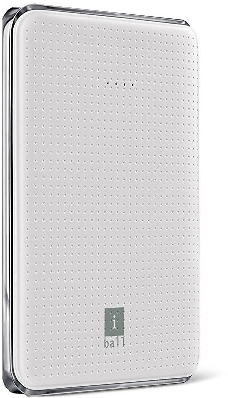 Iball PB-5049 Portable Dual USB Slim  5000 mAh Power Bank(White, Lithium Polymer)