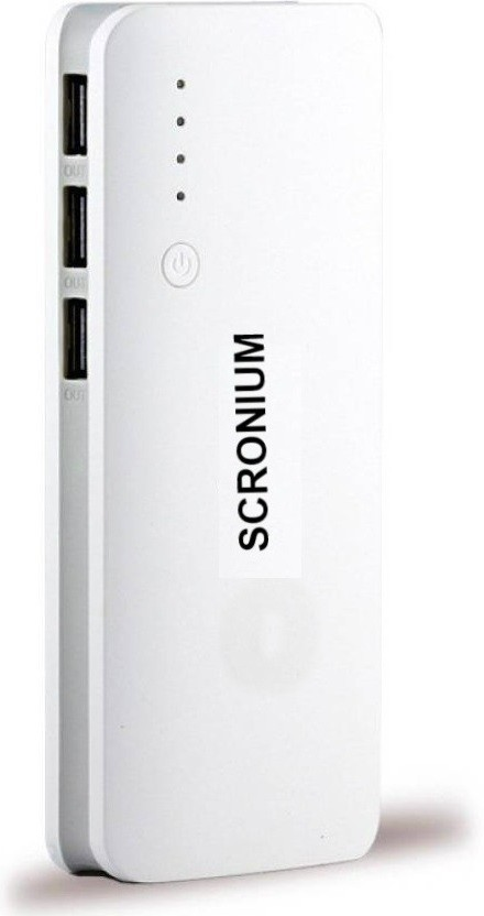 Scronium S-701  with Samsung Cells 20800 mAh Power Bank(White, Grey, Lithium-ion)