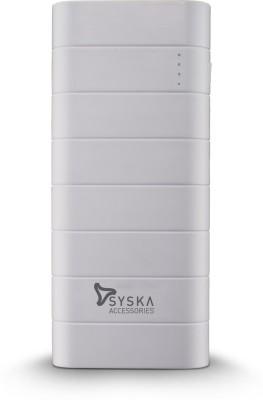 Syska Power Boost 100 - 10000 mAh Power Bank(White, Lithium-ion)