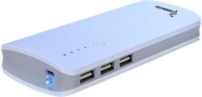 Lappymaster Co48PB-062 GREY WHITE -11000 MAHZX48 Smart D 10400 mAh Power Bank(White, Lithium-ion)