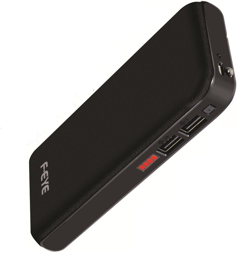 F-EYE 13000mAh Mobile Charger For All Android & SmartPhone 13000 mAh Power Bank(Black, Lithium-ion)