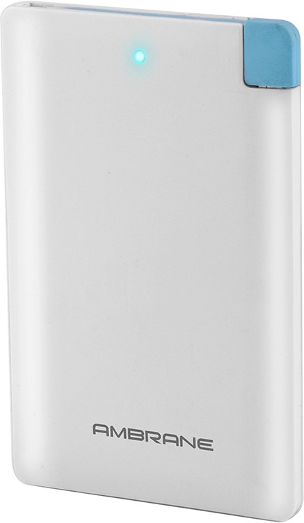Ambrane Plush PP-25 2500 mAh Power Bank(White, Lithium Polymer)