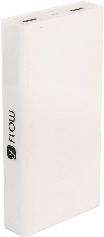 Flow I13000 I Charge Universal Dual USB 13000 mAh Power Bank(White, Lithium-ion)