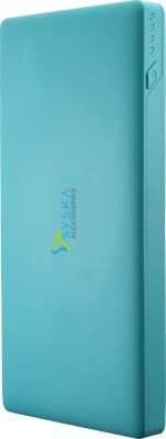 Syska Power Slice 100- 10000 mAh Power Bank(Blue, Lithium Polymer)
