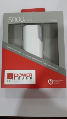 iBall PB-5058 Portable 5000 mAh Power Bank(White, Lithium-ion)