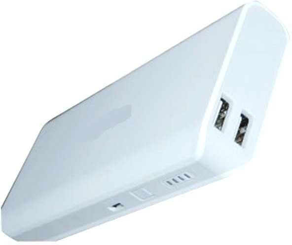 A Connect Z RM-A01 Fast Charge - 103 10000 mAh Power Bank(White, Lithium-ion)