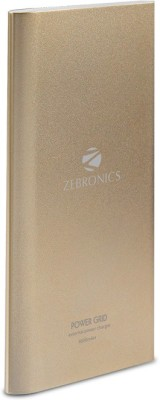 Zebronics PG8000 8000 mAh Power Bank(Gold)